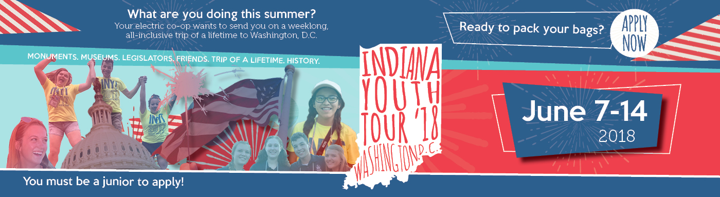Link to apply for 2018 Indiana Youth Tour to Washington D.C.