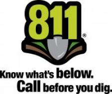 Indiana 811 Logo. Know what's below. Call 811 before you dig.
